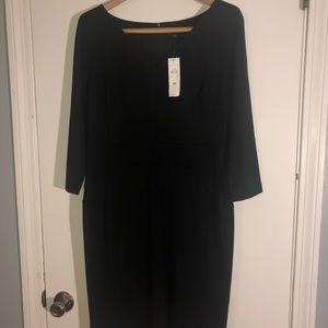 Ann Taylor 3/4 sleeves Black Dress NWT